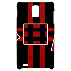 Red and black geometric pattern Samsung Infuse 4G Hardshell Case