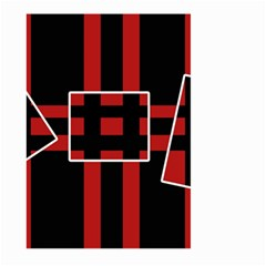 Red and black geometric pattern Large Garden Flag (Two Sides)