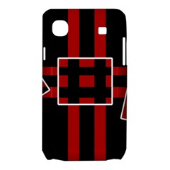 Red and black geometric pattern Samsung Galaxy SL i9003 Hardshell Case