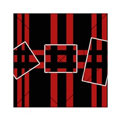 Red and black geometric pattern Acrylic Tangram Puzzle (6  x 6 )