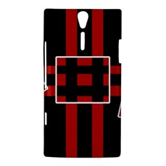 Red and black geometric pattern Sony Xperia S