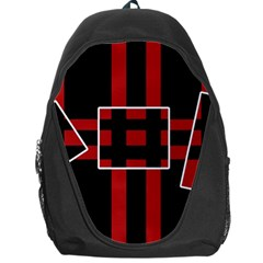 Red and black geometric pattern Backpack Bag