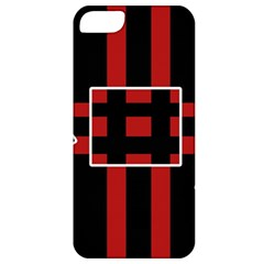 Red and black geometric pattern Apple iPhone 5 Classic Hardshell Case