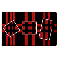 Red and black geometric pattern Apple iPad 3/4 Flip Case