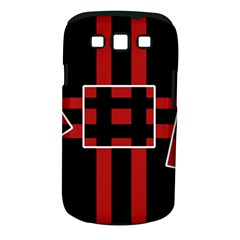 Red and black geometric pattern Samsung Galaxy S III Classic Hardshell Case (PC+Silicone)
