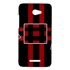 Red and black geometric pattern HTC Butterfly X920E Hardshell Case