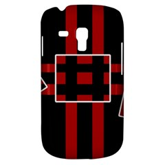 Red and black geometric pattern Samsung Galaxy S3 MINI I8190 Hardshell Case