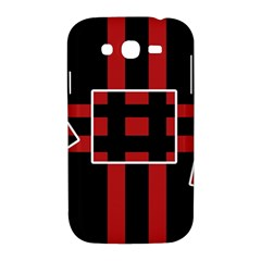 Red and black geometric pattern Samsung Galaxy Grand DUOS I9082 Hardshell Case