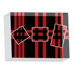 Red and black geometric pattern 5 x 7  Acrylic Photo Blocks