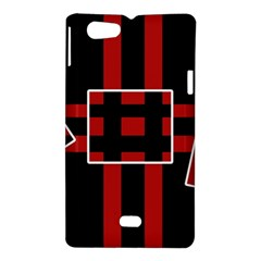 Red and black geometric pattern Sony Xperia Miro