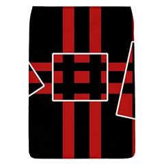 Red and black geometric pattern Flap Covers (S)