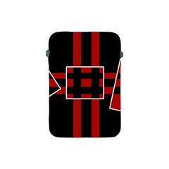 Red and black geometric pattern Apple iPad Mini Protective Soft Cases