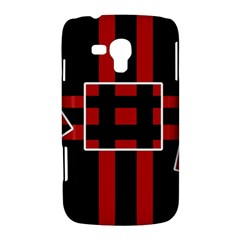 Red and black geometric pattern Samsung Galaxy Duos I8262 Hardshell Case