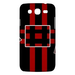 Red and black geometric pattern Samsung Galaxy Mega 5.8 I9152 Hardshell Case