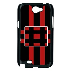 Red and black geometric pattern Samsung Galaxy Note 2 Case (Black)