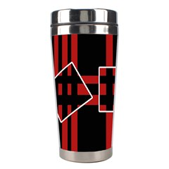 Red and black geometric pattern Stainless Steel Travel Tumblers