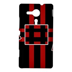 Red and black geometric pattern Sony Xperia SP