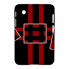 Red and black geometric pattern Samsung Galaxy Tab 2 (7 ) P3100 Hardshell Case