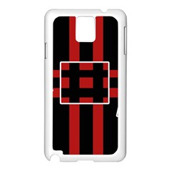 Red and black geometric pattern Samsung Galaxy Note 3 N9005 Case (White)