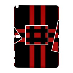 Red and black geometric pattern Samsung Galaxy Note 10.1 (P600) Hardshell Case