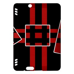 Red and black geometric pattern Kindle Fire HDX Hardshell Case
