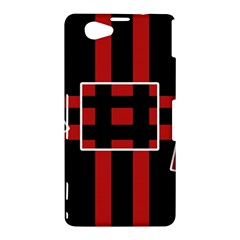 Red and black geometric pattern Sony Xperia Z1 Compact