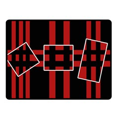 Red and black geometric pattern Double Sided Fleece Blanket (Small)