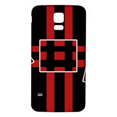 Red and black geometric pattern Samsung Galaxy S5 Back Case (White)