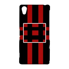 Red and black geometric pattern Sony Xperia Z2