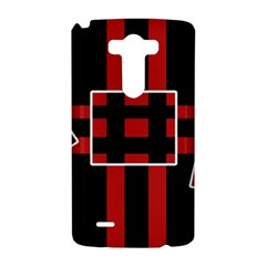 Red and black geometric pattern LG G3 Hardshell Case