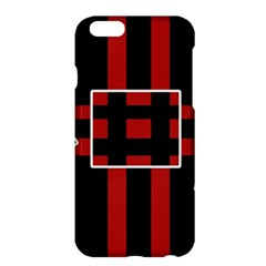 Red and black geometric pattern Apple iPhone 6 Plus/6S Plus Hardshell Case