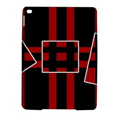 Red and black geometric pattern iPad Air 2 Hardshell Cases