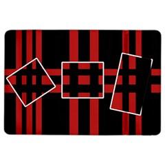 Red and black geometric pattern iPad Air 2 Flip