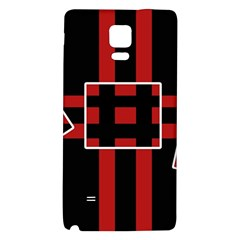 Red and black geometric pattern Galaxy Note 4 Back Case