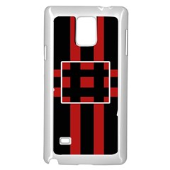 Red and black geometric pattern Samsung Galaxy Note 4 Case (White)