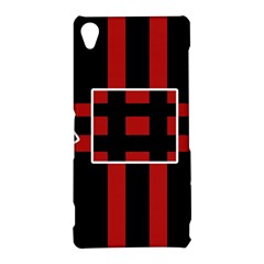Red and black geometric pattern Sony Xperia Z3