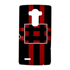 Red and black geometric pattern LG G4 Hardshell Case