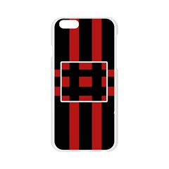 Red and black geometric pattern Apple Seamless iPhone 6/6S Case (Transparent)