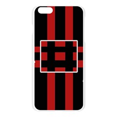Red and black geometric pattern Apple Seamless iPhone 6 Plus/6S Plus Case (Transparent)