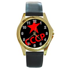 Russia Round Gold Metal Watch