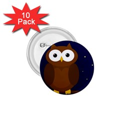 Cute owl 1.75  Buttons (10 pack)