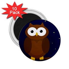 Cute Owl 2 25  Magnets (10 Pack)