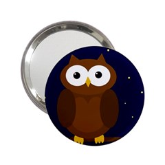 Cute owl 2.25  Handbag Mirrors
