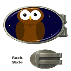 Cute owl Money Clips (Oval)