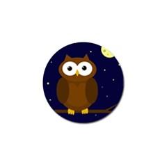 Cute owl Golf Ball Marker