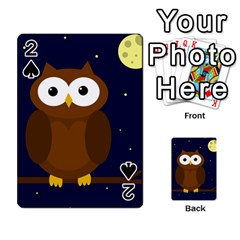 Cute owl Playing Cards 54 Designs