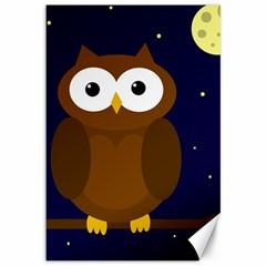 Cute owl Canvas 12  x 18