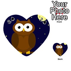 Cute owl Playing Cards 54 (Heart)