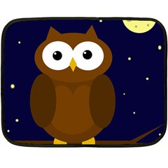 Cute owl Double Sided Fleece Blanket (Mini)