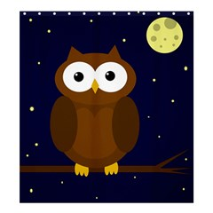 Cute owl Shower Curtain 66  x 72  (Large)